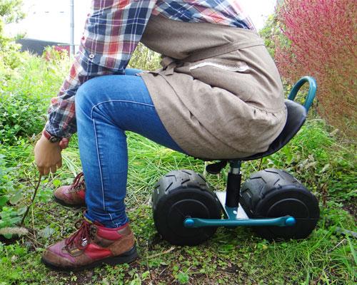 腰痛克服 ガーデニング 園芸 ミナト 農作業用 移動椅子